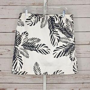 Madison leaf print skirt size 10